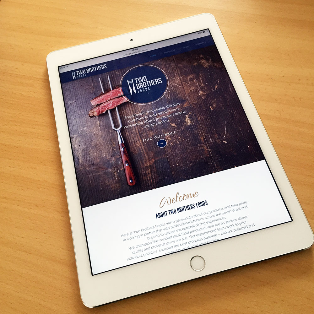 Rebrand Website Design For Two Brothers Foods Cornwall