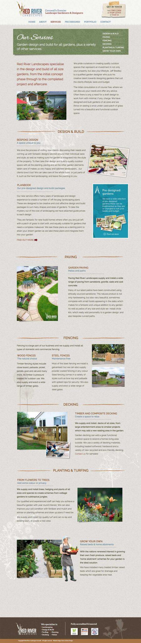 redriver-landscapes-website-design